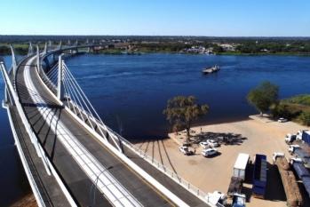 Kazungula Bridge between Botswana and Zambia